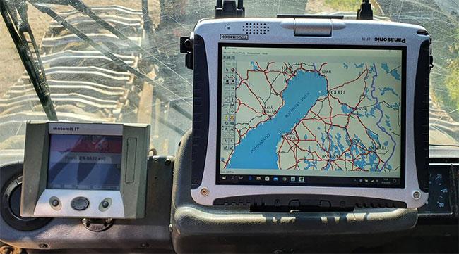Toughbook CF-19 toimii Motomit näytön kanssa